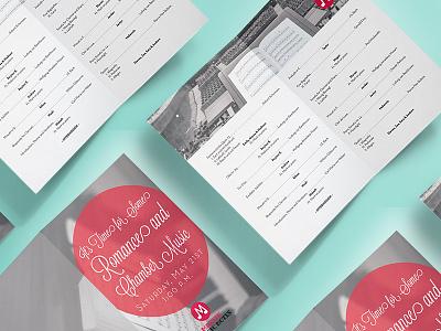Music Program half fold print music program program