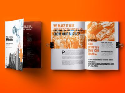 Sales Kit Design white orange sales indesign print design