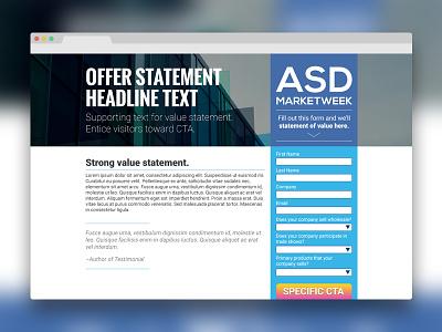 Landing Page Template blue web design web landing page