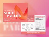 Postcard Design fashion shoes postcard print print design