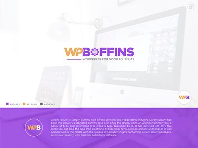 Minimalist Wordmark Logo | WP Boffins modern logo design wordmark minimalist logo modern logo logo design logo branding