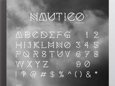 Nautico Typeface typeface typography display font font bold poster toronto canada graphic design graphic design