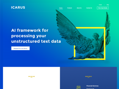 Icarus Landing Page