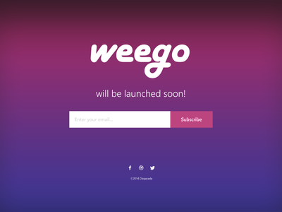 Weego - Coming Soon Page