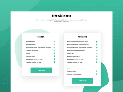 Pricing cards ui  ux cards ui cards design green blobs white pricing page pricing plans