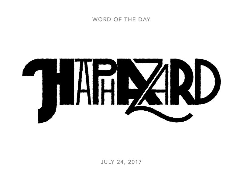 Haphazard logo typography lettering type
