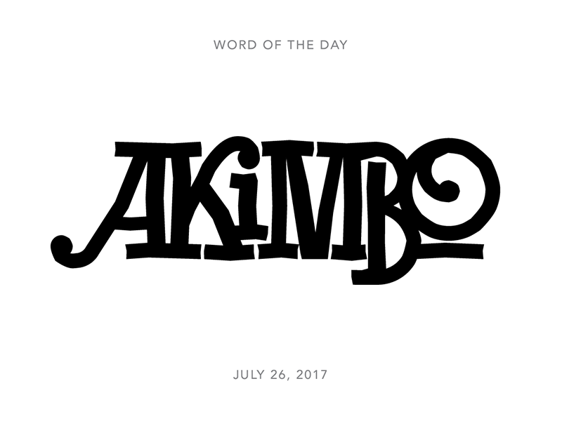 Akimbo logo typography lettering type