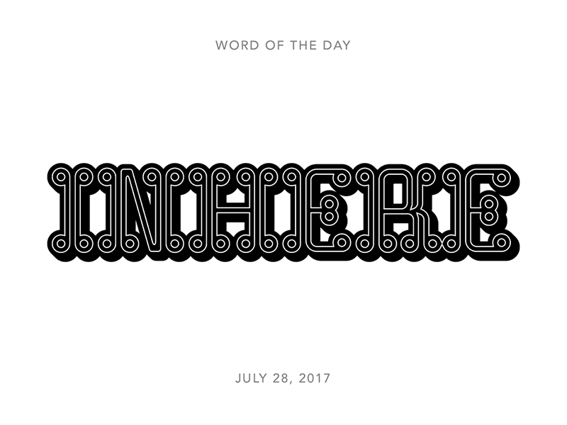Inhere logo typography lettering type
