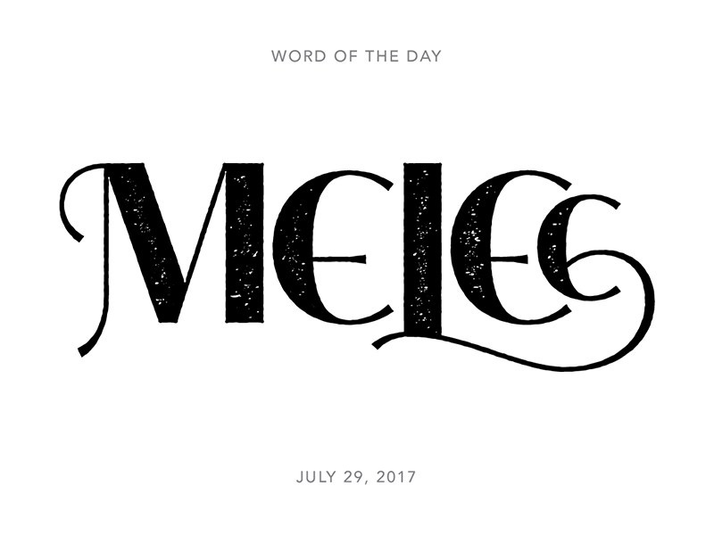 Melee logo typography lettering type