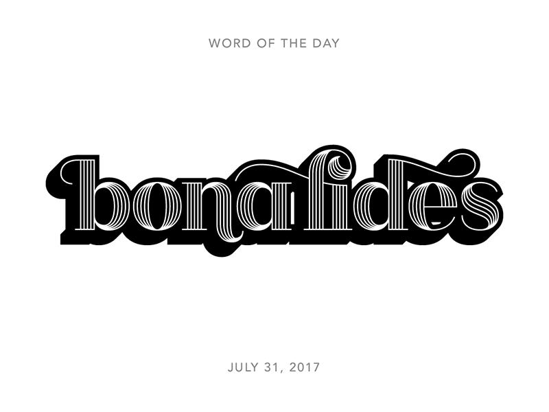 Bona fides logo typography lettering type