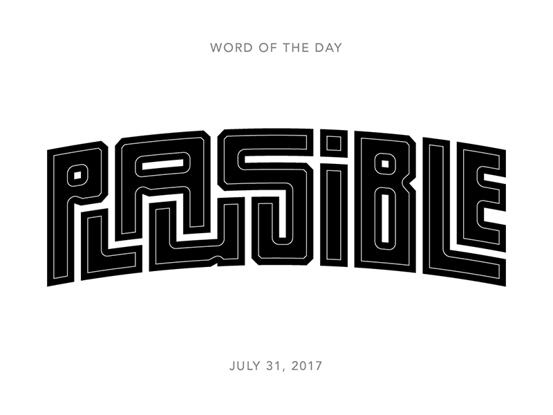 Plausible logo typography lettering type