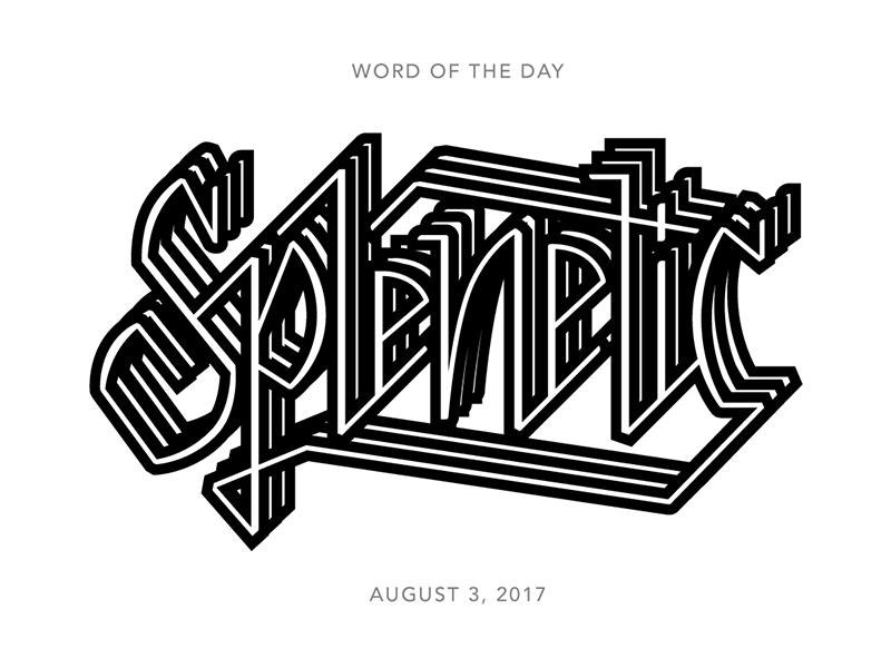 Splenetic logo typography lettering type