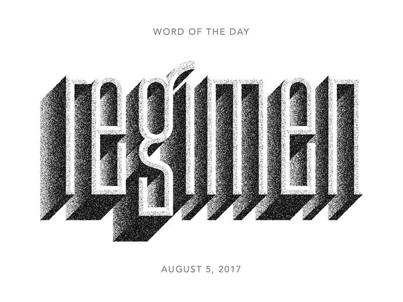 regimen logo typography lettering type