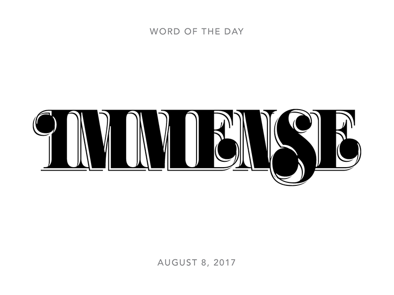 Immense logo typography lettering type