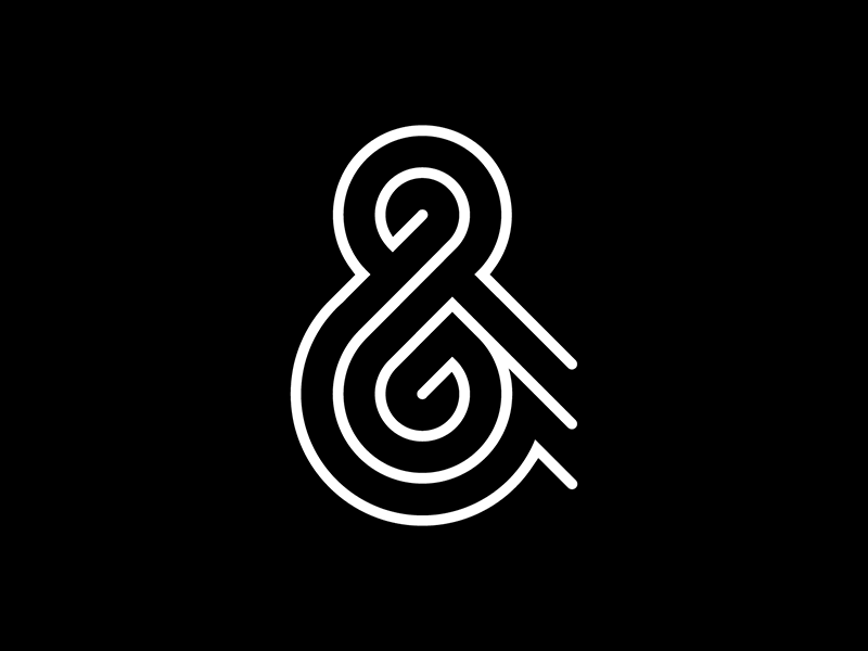Ampersand logo typography lettering type