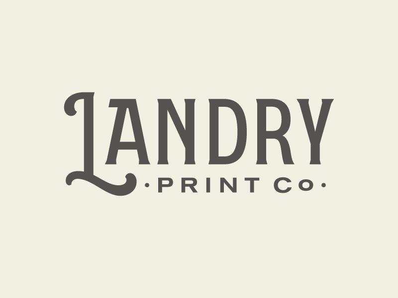 Landry Print Co. logotype print landry type lettering logo