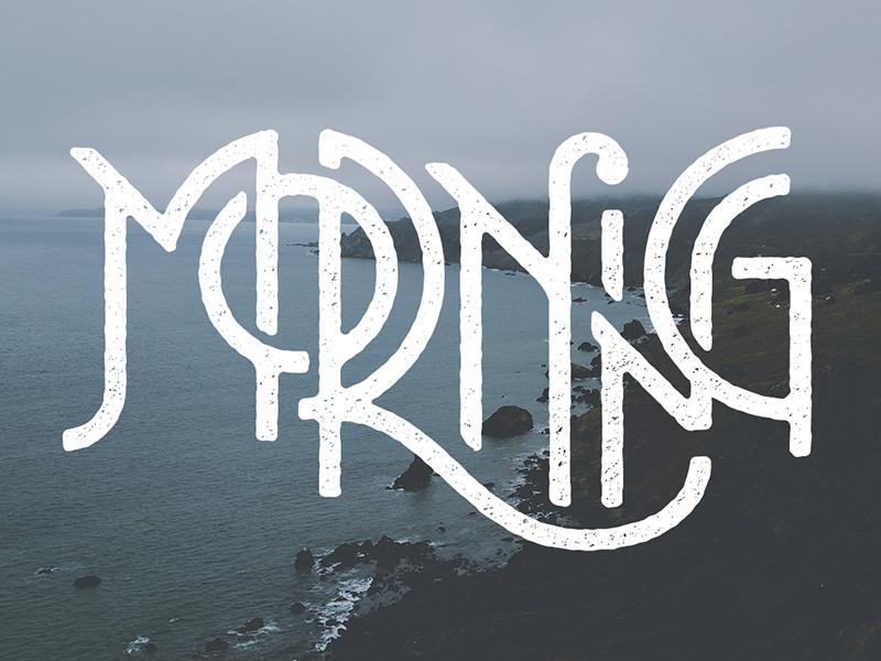 Morning art deco deco sans sans serif geometric logo custom type ocean morning typography type lettering