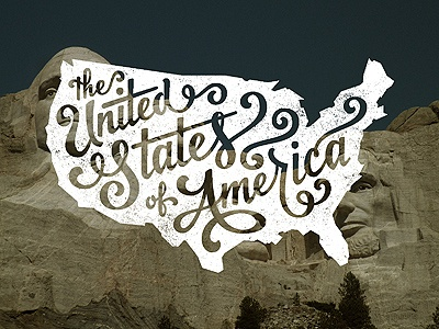 The United States of America united states america freedom eagles lettering typography mount rushmore