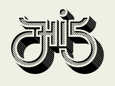 Hi 5! One-color high five type lettering one-color awesome