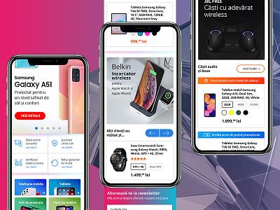 eCommerce Homepage web design graphic design mobile design ux ui