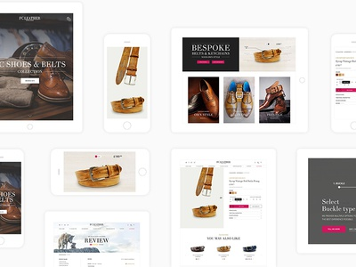 FC Leather artists web design annimation mobile ui  ux graphic design creative ui ux design