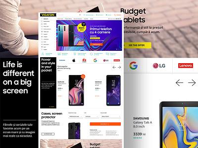 Vigafon ecommerce shop mobile phones ecommerce business ecommerce design ecommerce ui  ux ui ux web design graphic design creative mobile design