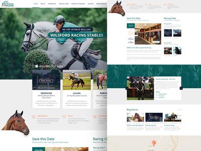 SeamusMullins - Wilsford Racing Stables racing horse racing stables horses creative illustration horse logo branding ux ui ui  ux graphic design design web design