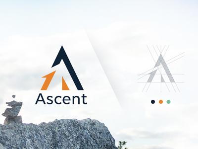 Ascent Agency Branding design agency agency branding vector graphic design creative branding logo