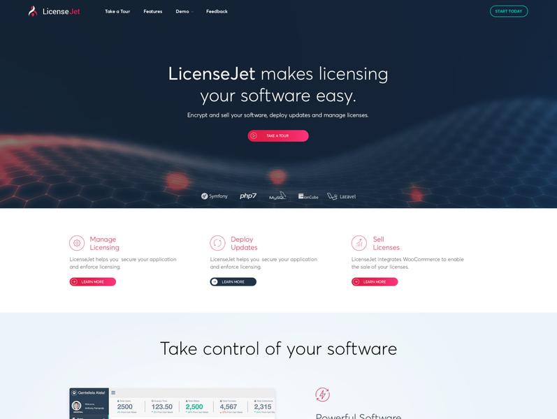 LicenseJet web design illustration logo ui ux design graphic design creative branding ui  ux