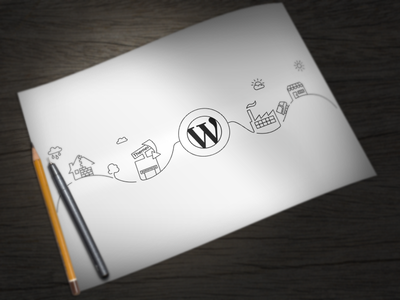CodeinWP Illustration illustration wordpress clean team factory coding white black
