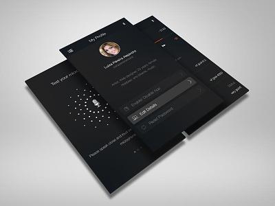 GRUV App Screens profile screen player screen ui mobile ux app app design gruv microphone talk