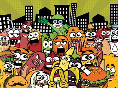 Food Office Banner design creative banner graphic design cartoon banners