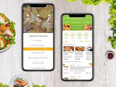 Food App Concept mobile concept art ui  ux ui food design app