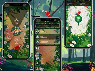 Event App concerts artists mobile ui  ux ui music event app event