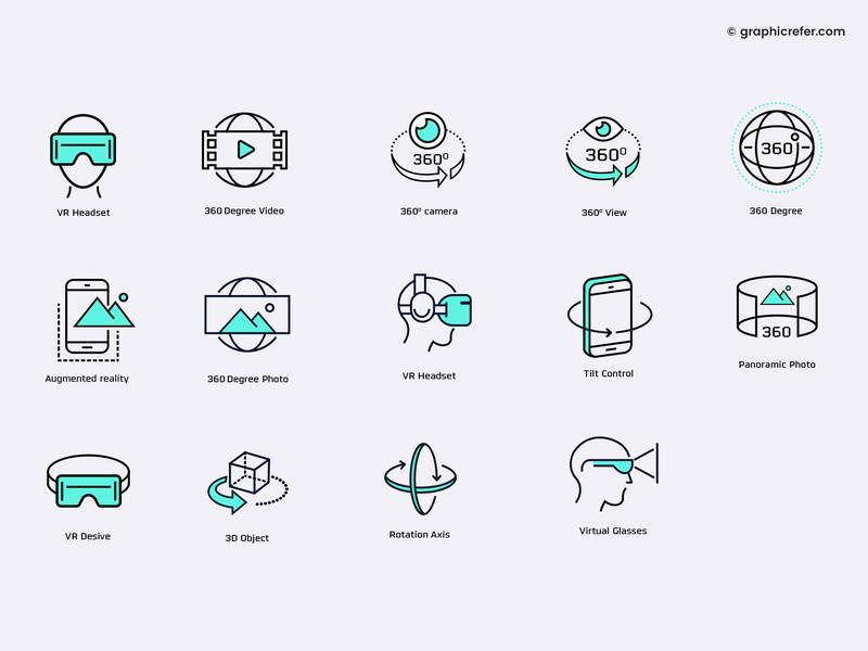 Virtual Reality Icons flat icon design free icon set ux design virtual reality