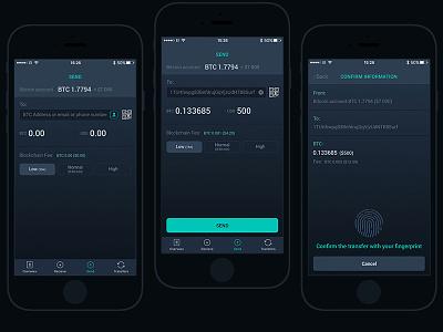 Cryptopay app ui ux money black bank ios app cryptopay bitcoin