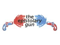 """logo design """"the epistolary gun"""" blog"""