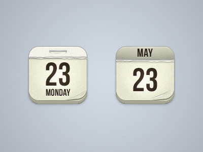 Calendar Icons calendar app icon paper date ios iphone ipad