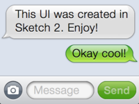 iOS Message UI made with Sketch 2