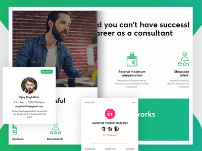 Consultant Landing Page Design