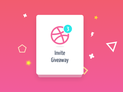 Dribbble Invite Give away new joinees freebies invitation dribbble invite