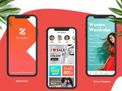 5 multi categories Mobile Apps UI kit