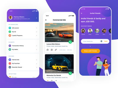 Car Classified App car buy cap app startup android app creative landing pages landing page ios app ios design landing page ui interation design app design uiux