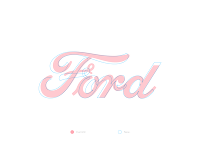 Ford refresh isologo logotype letters typography branding ford concept design redesign vector lettering logo