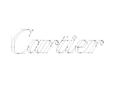 Cartier Bezier branding illustrator bezier cartier redesign typography illustration design letters letter vector lettering