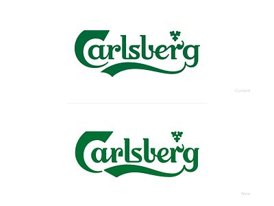 Carlsberg mark letters logo branding typography design illustrator rebrand letter vector lettering