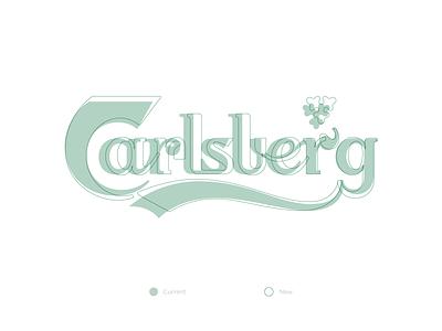 Carlsberg branding rebranding carlsberg rebrand logotype logo typography design letters letter vector lettering