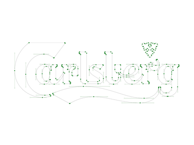 Carlsberg Bezier bezier carlsberg logo rebranding redesign rebrand branding typography design letters letter vector lettering