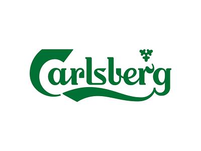 Carlsberg typography carlsberg logo redesign rebrand branding design letters letter vector lettering