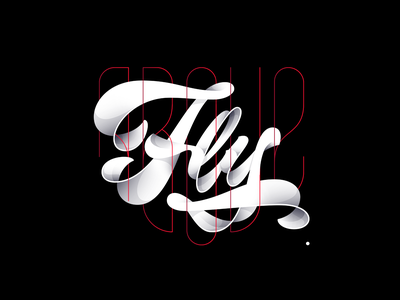 Fly Above logo fly above joins illustration shadows illustrator letters design vector letter lettering